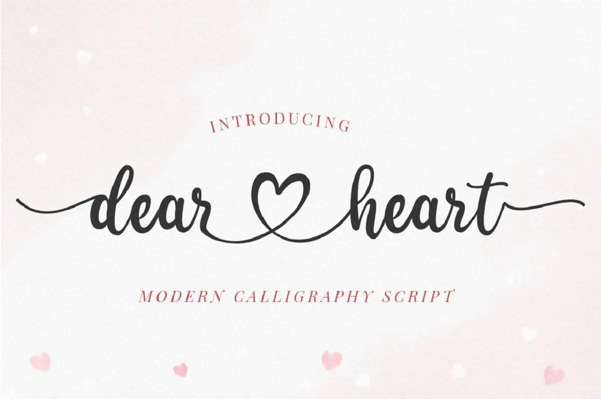 Dear Heart Calligraphy Script Font -1