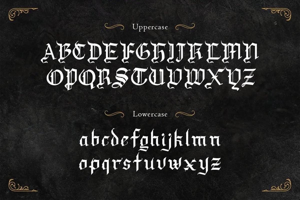 Draculie Blackletter Font -2