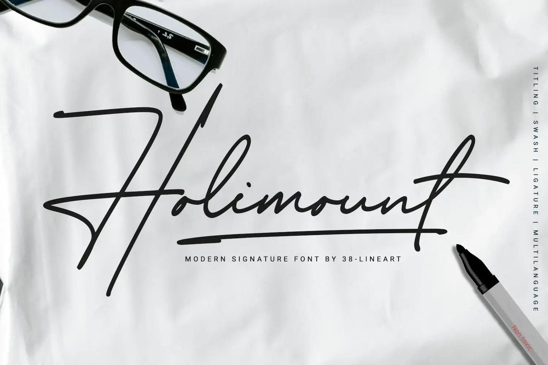Holimount Modern Handwritten Font -1