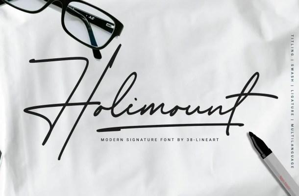 Holimount Font