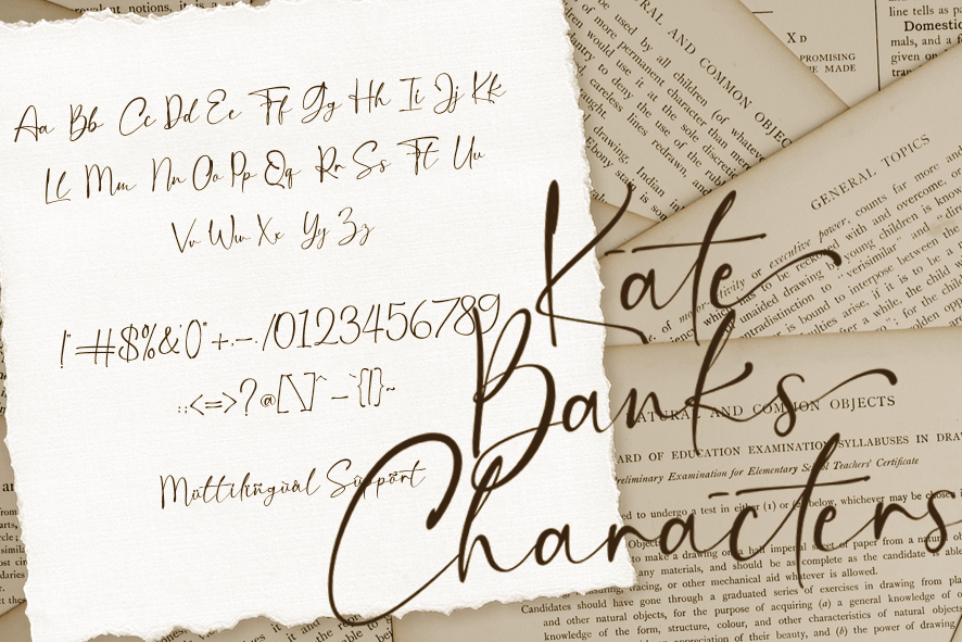 Kate Banks Handwritten Font -3