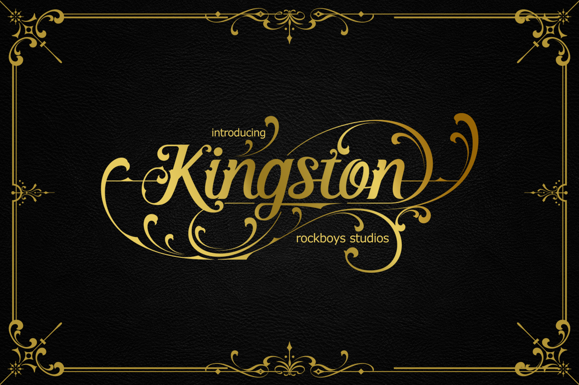 Kingston Modern Calligraphy Font -1