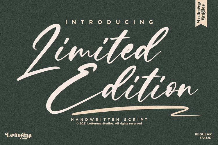 Limited Edition Signature Script Font -1