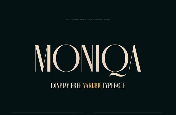 MONIQA Typeface