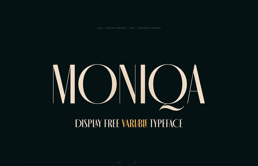 MONIQA Variable Sans Typeface -1