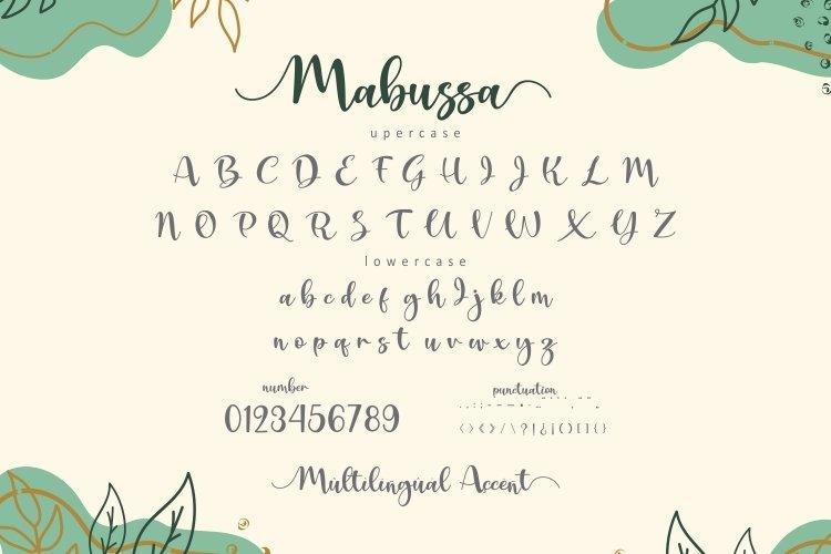 Mabussa Modern Calligraphy Font -3