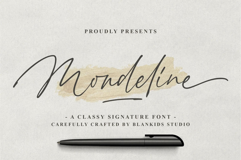 Mondeline Clean Signature Font -1