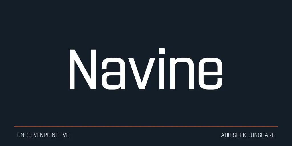 Navine Sans Serif Typeface -1