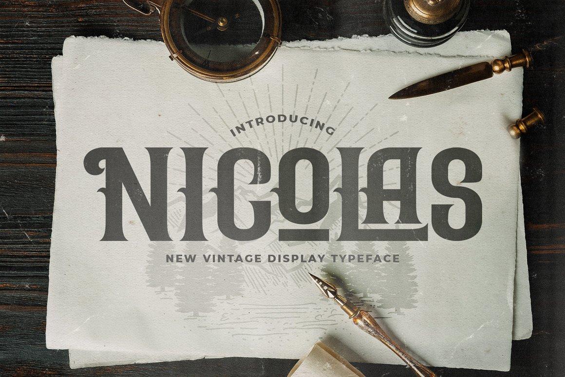 Nicolas Victorian Style Font -1