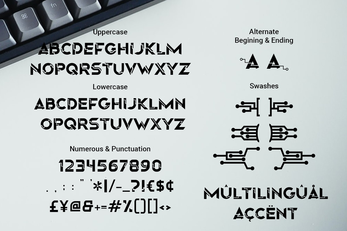 Origin Tech Display Typeface -3