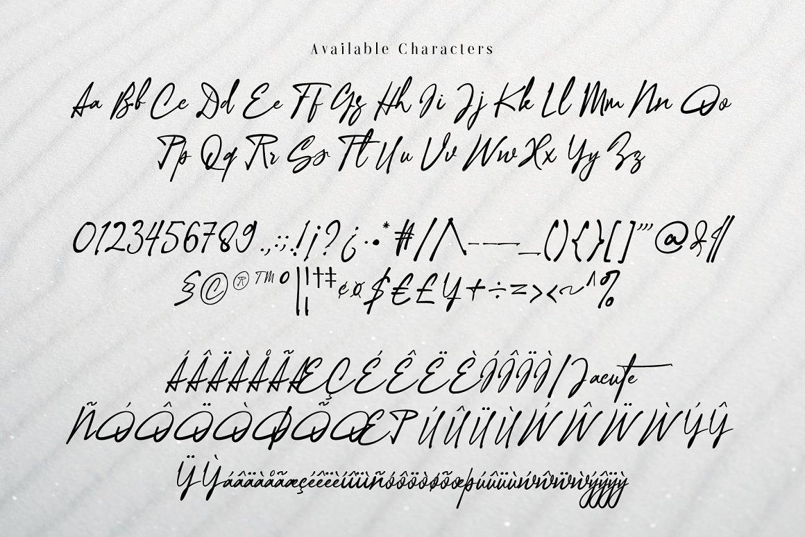 Ottenthic Signature Ligatures Font -3