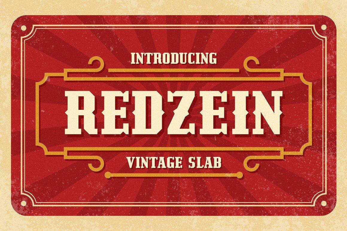 Redzein Vintage Slab Serif Font -1