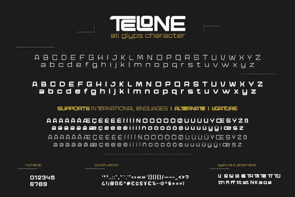 Telone Display Font -3