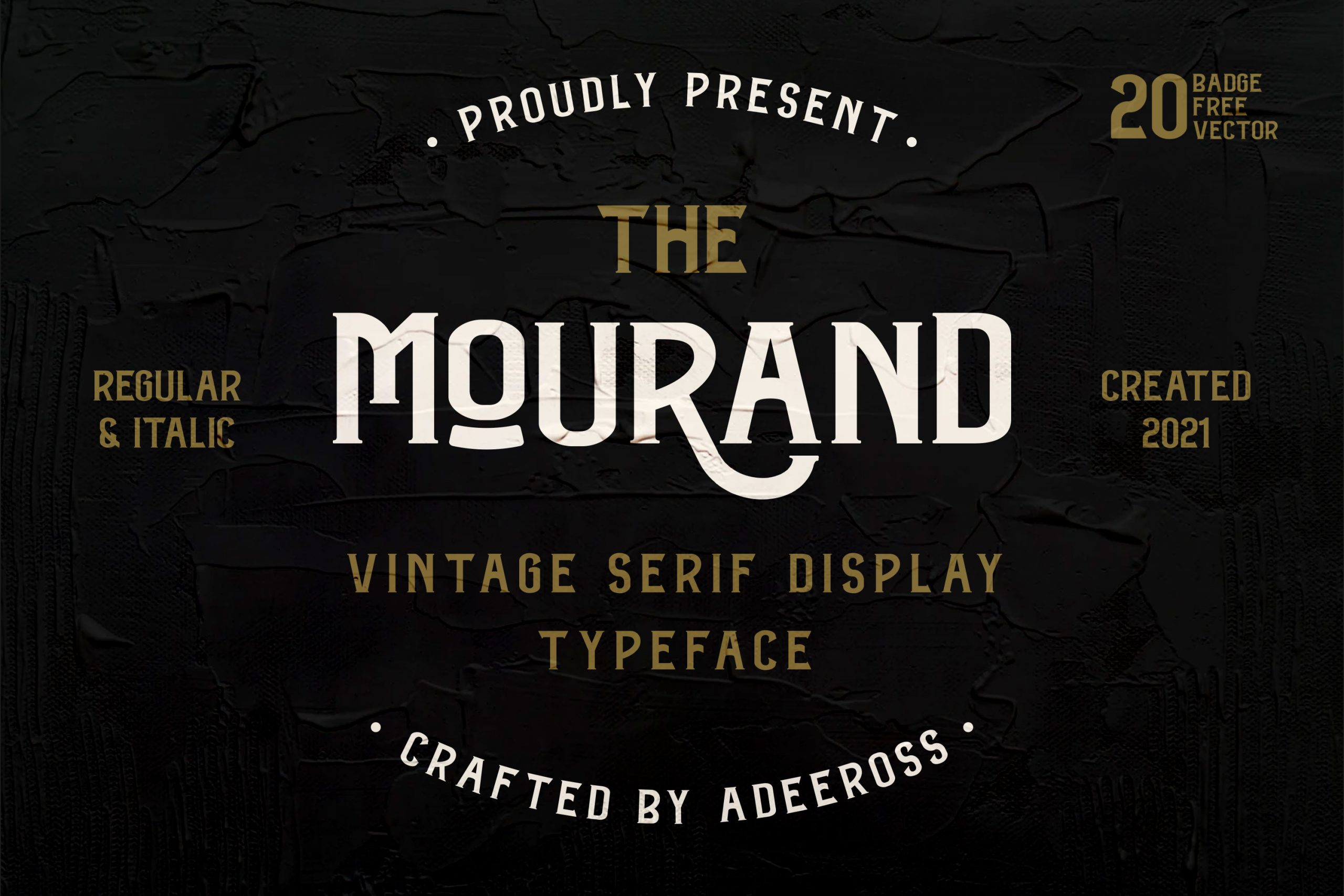 The Mourand Vintage Display Font -1