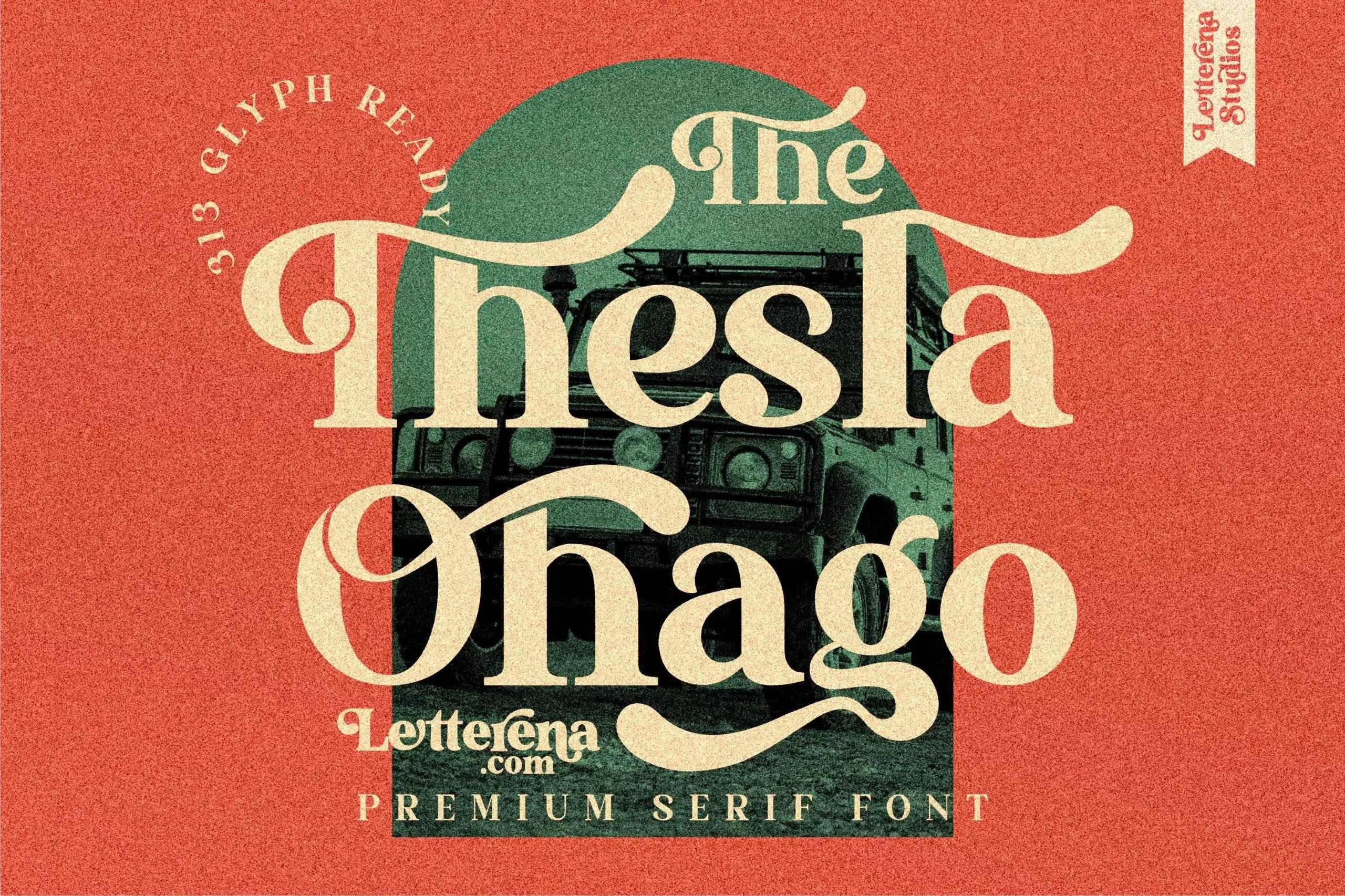 The Thesla Ohago Luxury Serif Font -1