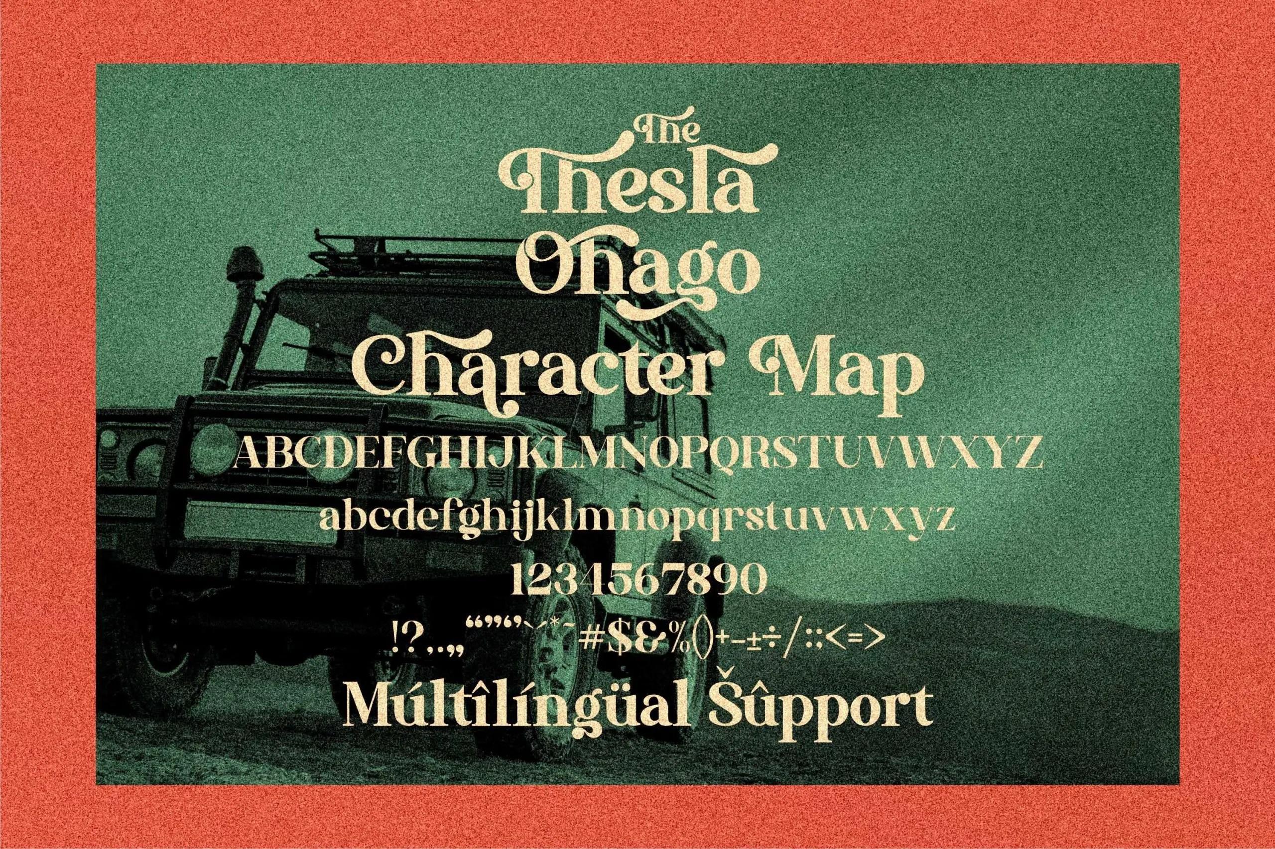 The Thesla Ohago Luxury Serif Font -3