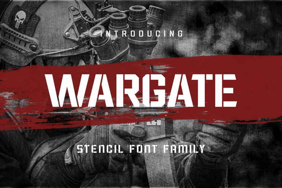 Wargate Stencil Font Family -1