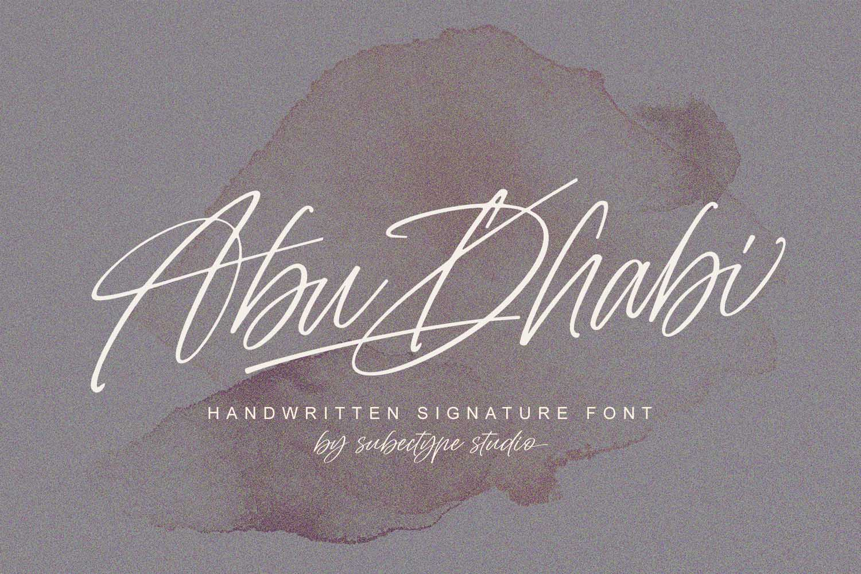 Abu Dhabi Handwritten Signature Font -1
