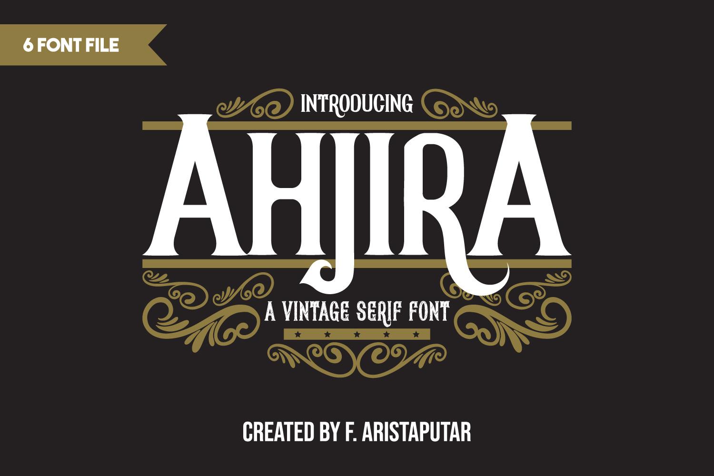 AhjiraSerif Font -1