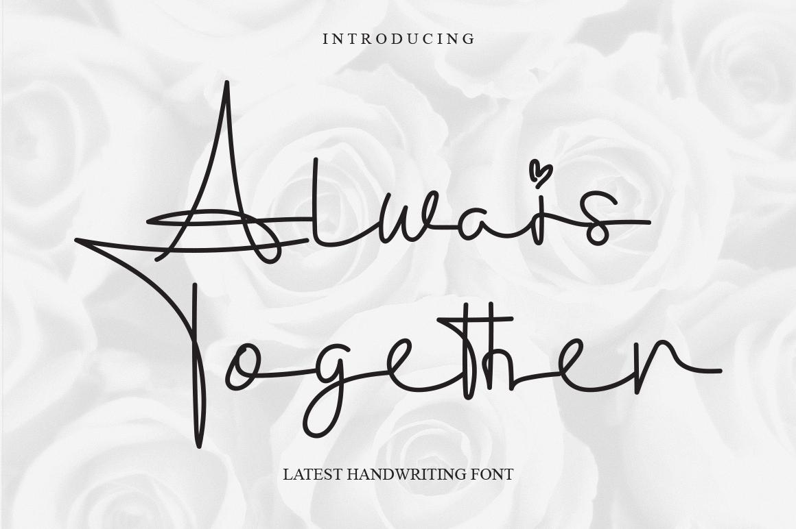 Always Together Handwritten Font -1