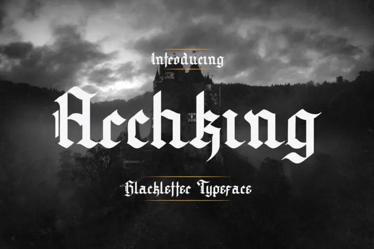 Archking Modern Blackletter Font -1