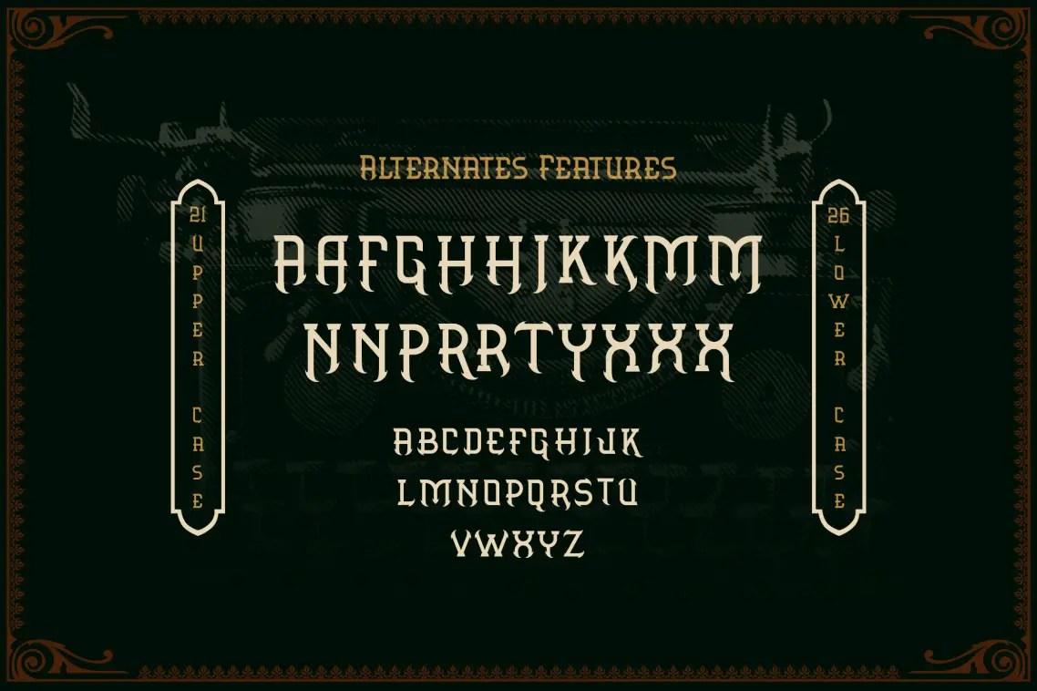 Aronica Slab Serif Font -3
