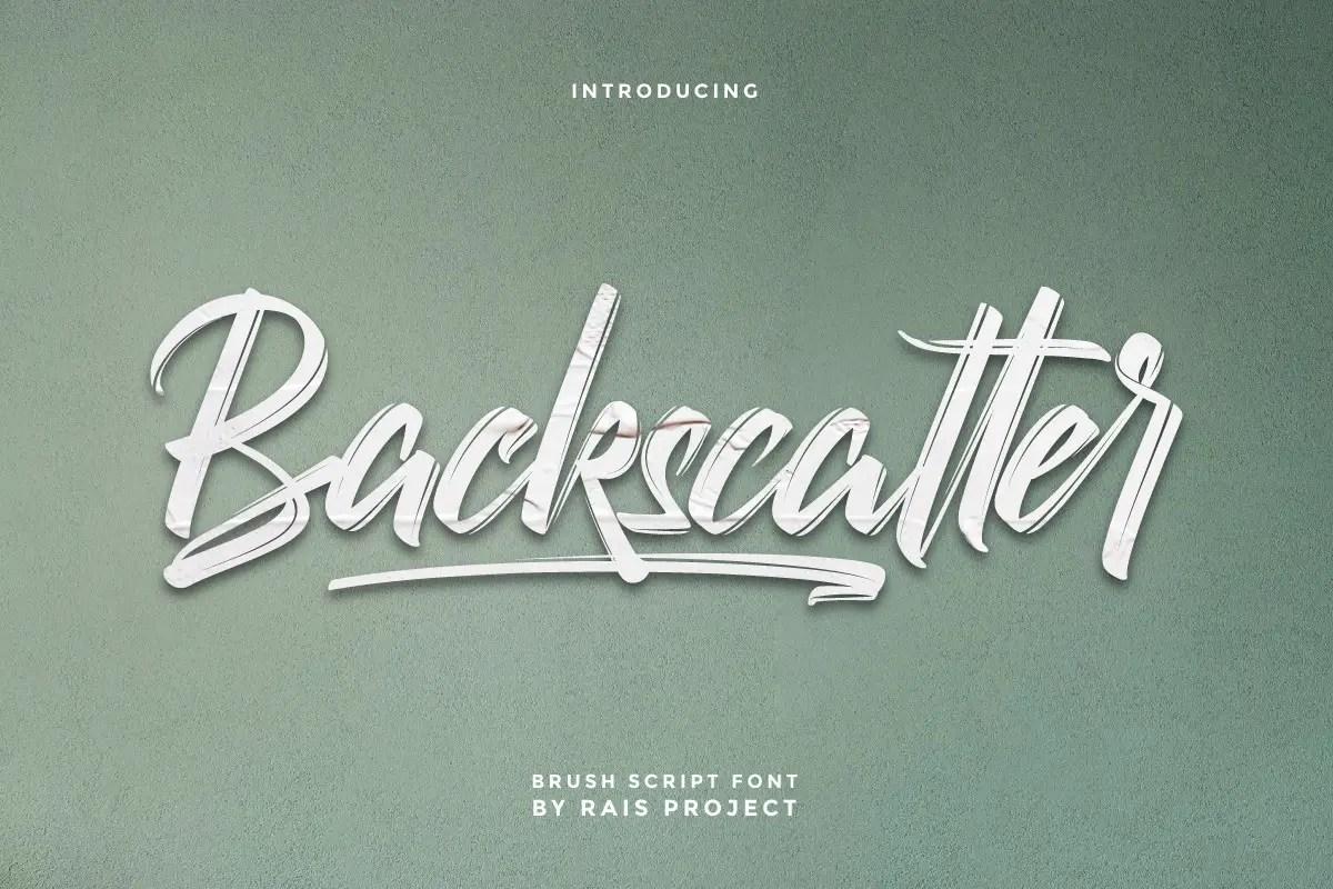 Backscatter Script Brush Font -1