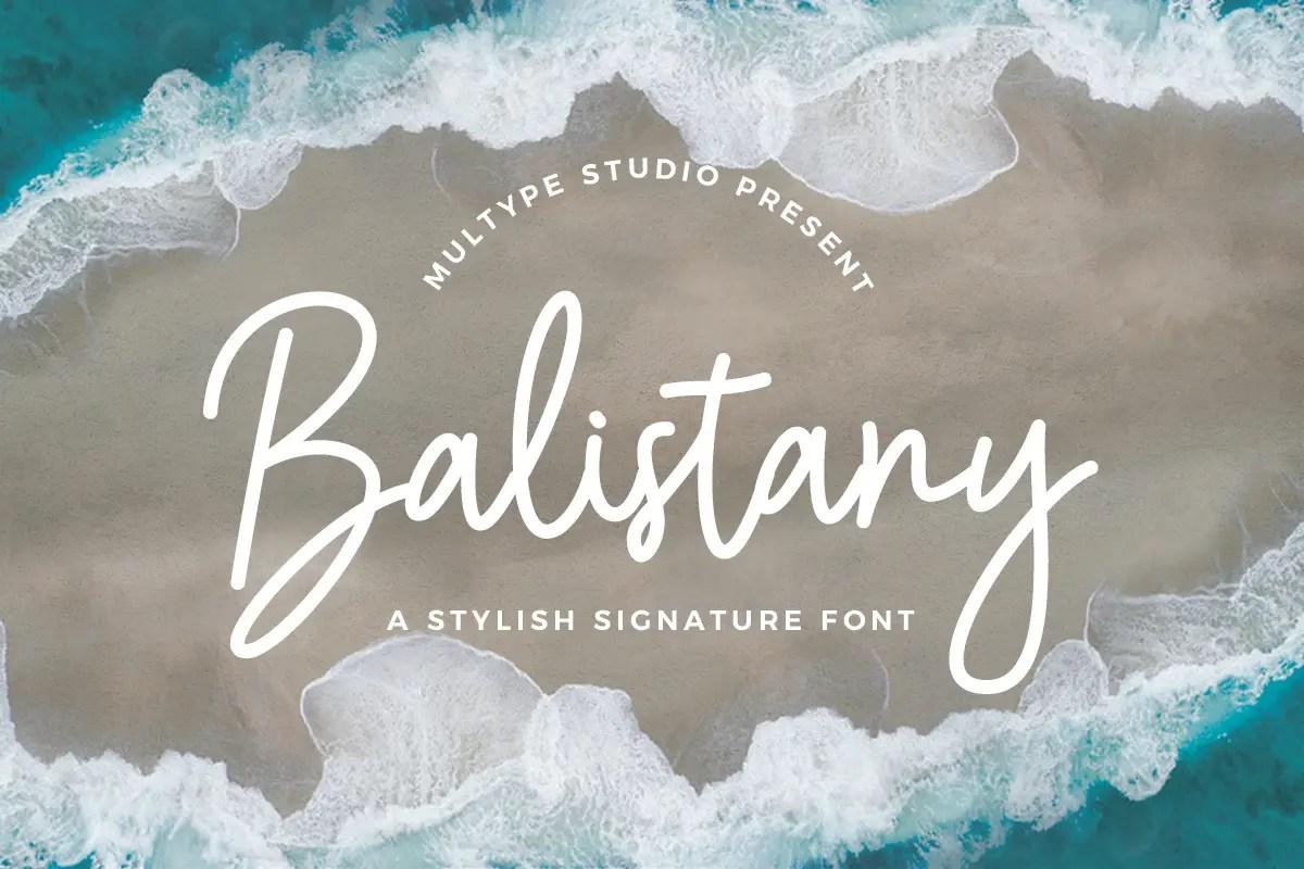 Balistany Stylish Handwritten Font -1