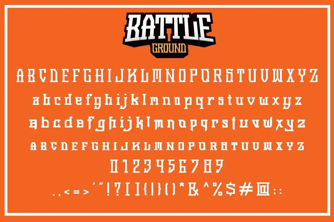 Battleground Display Font -3