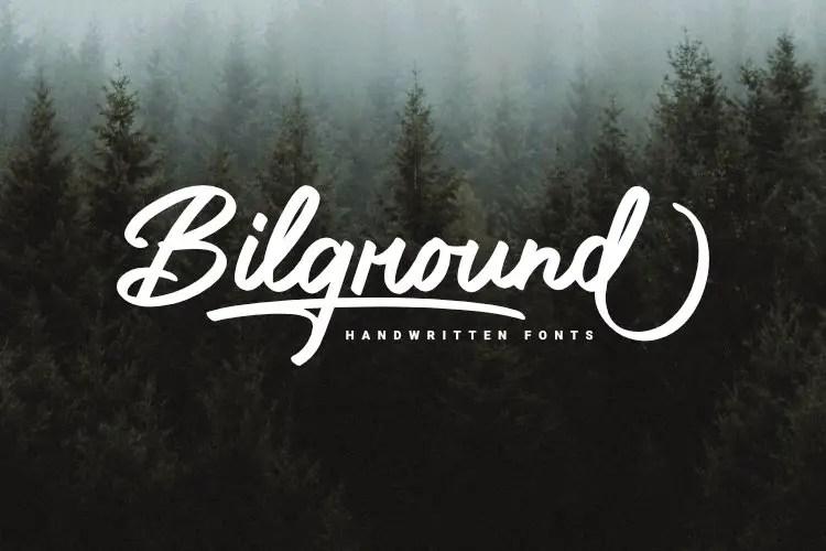 Bilground Beautiful Handwritten Font -1