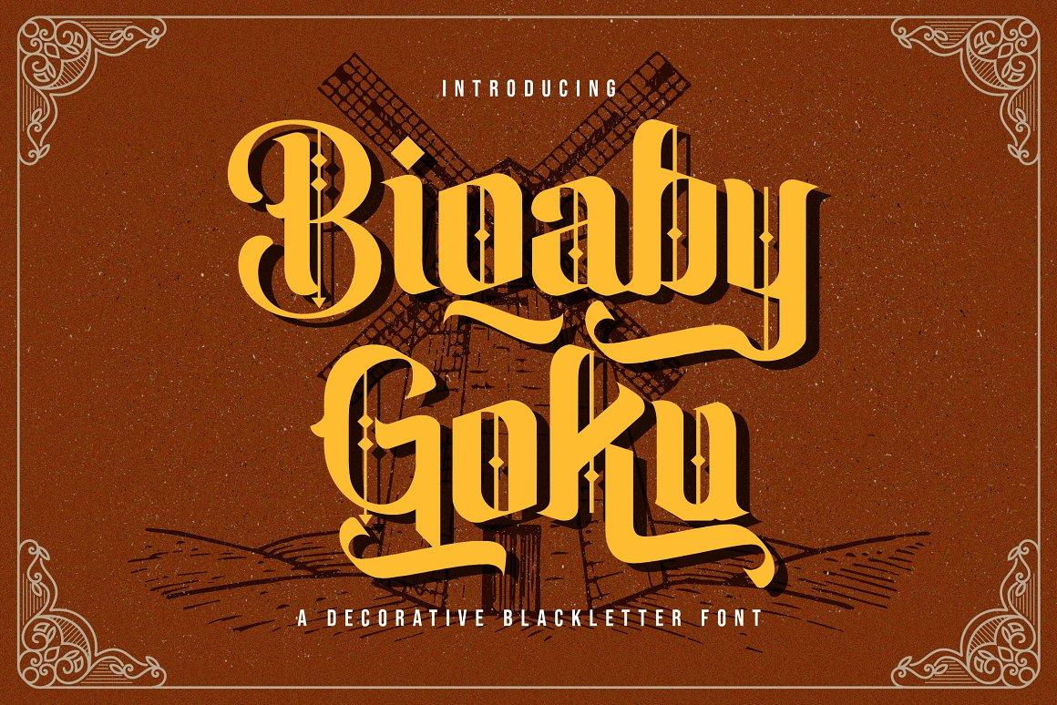 Biqaby Goku Blackletter Font -1