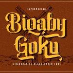 Biqaby Goku Font