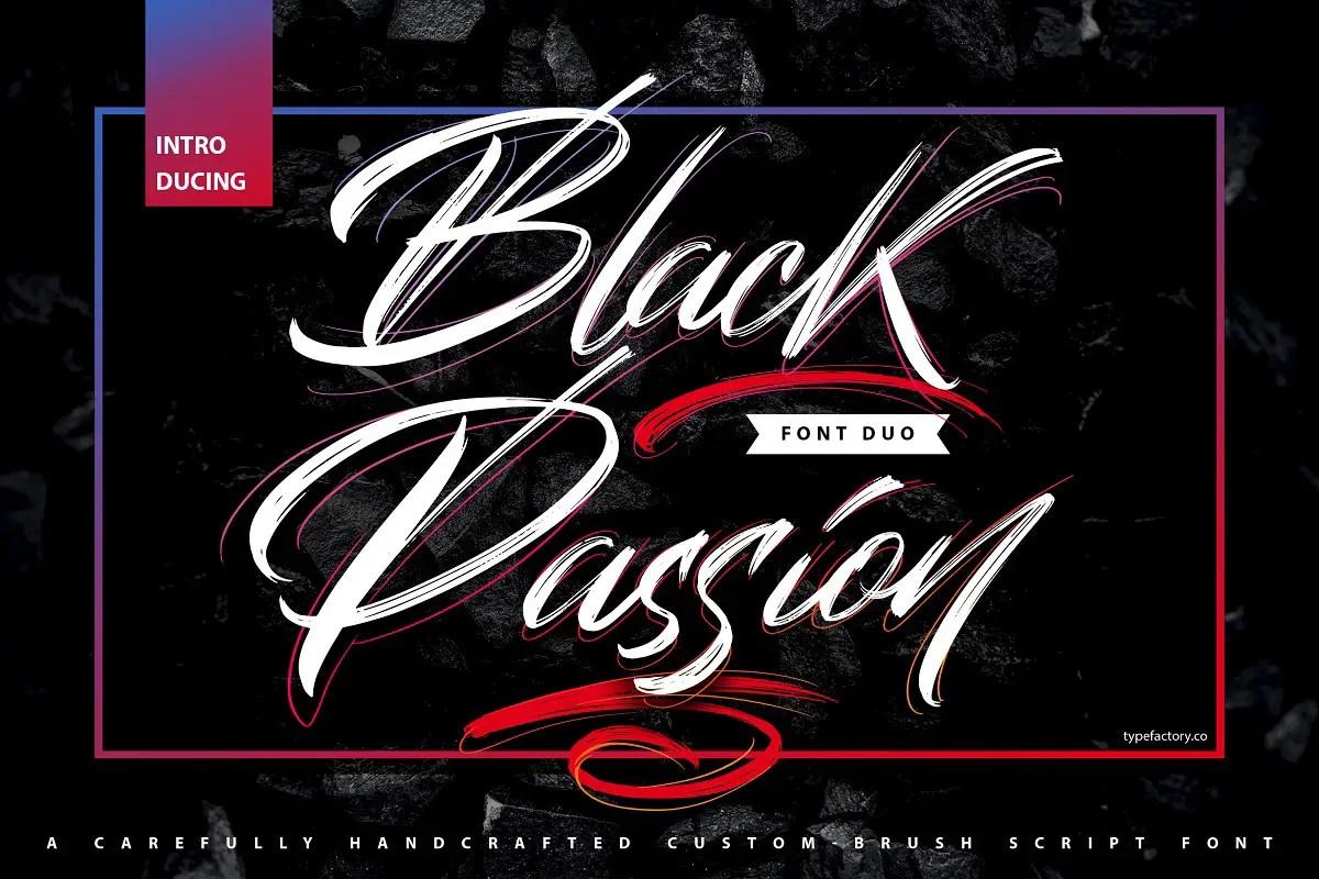 Black Passion Brush Script Font -1