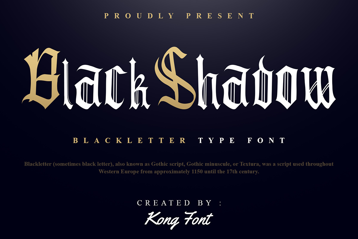 Black Shadow Old English Font -1