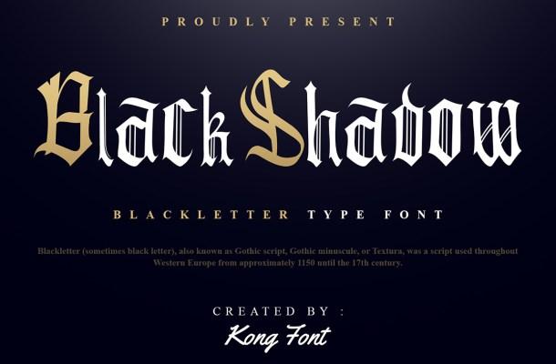 Black Shadow Font
