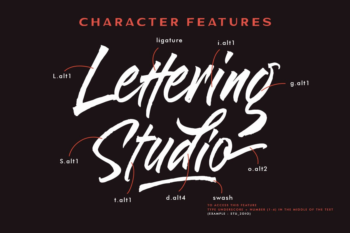 Blakestone Script Brush Font -2