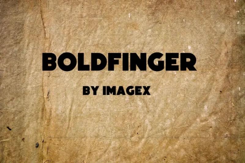 Boldfinger Sans Serif Font -1