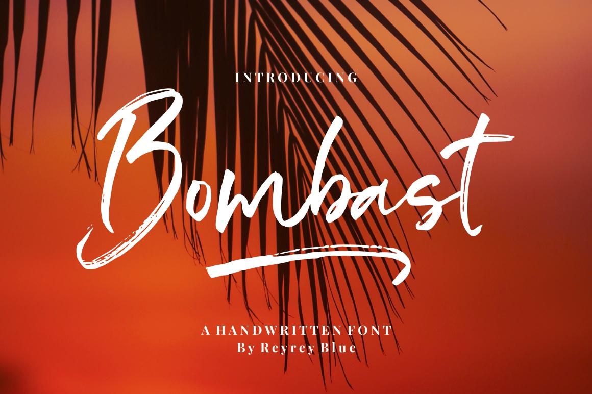 Bombast Brush Script Font -1