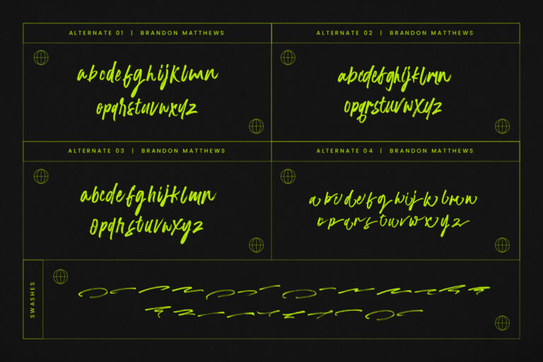 Brandon Matthews Handbrush Font -2
