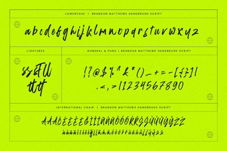 Brandon Matthews Handbrush Font -3
