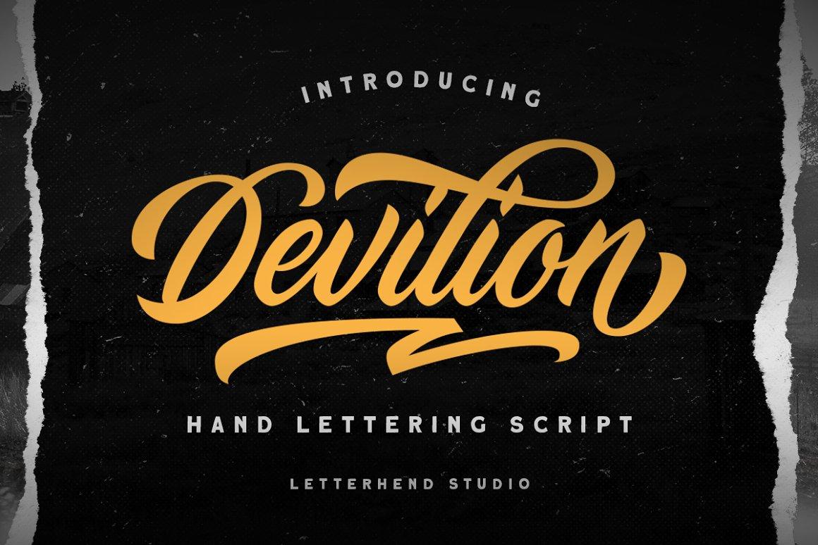 Devilion Bold Calligraphy Script Font -1