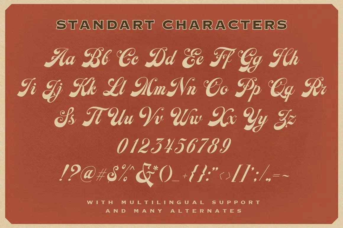 Earthgate Bold Script Typeface -3