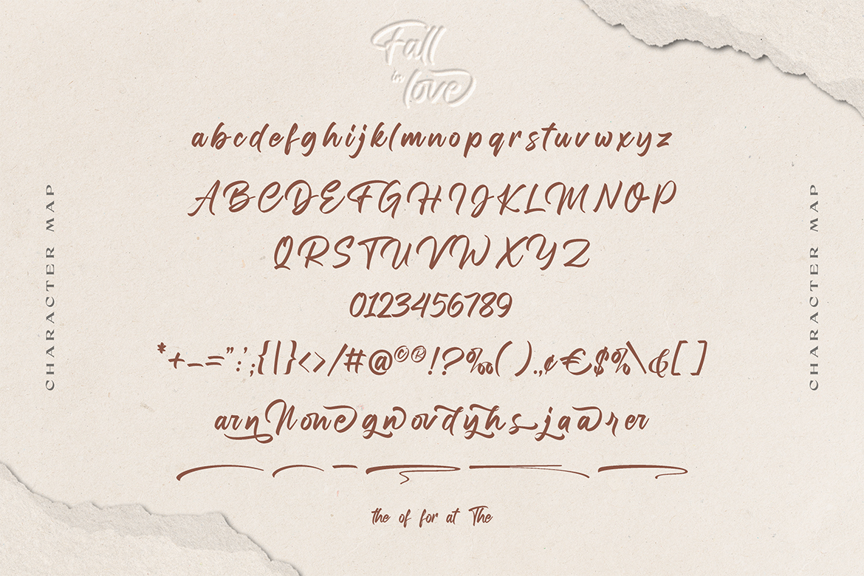 Fall in love Bold Script Font -3
