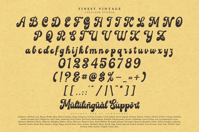 Finest Vintage Retro Script Font -3