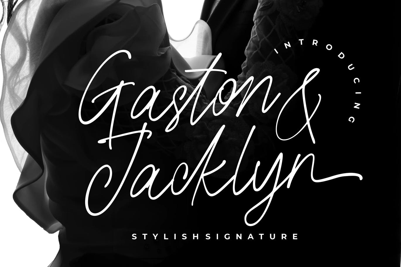 Gaston & Jacklyn Stylish Signature Font -1