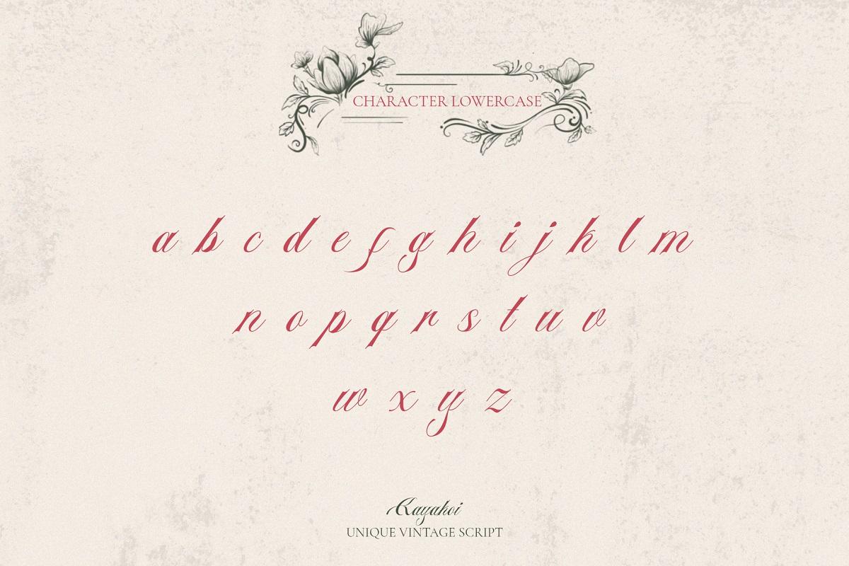 Kayakoi Bautiful Calligraphy Font -2