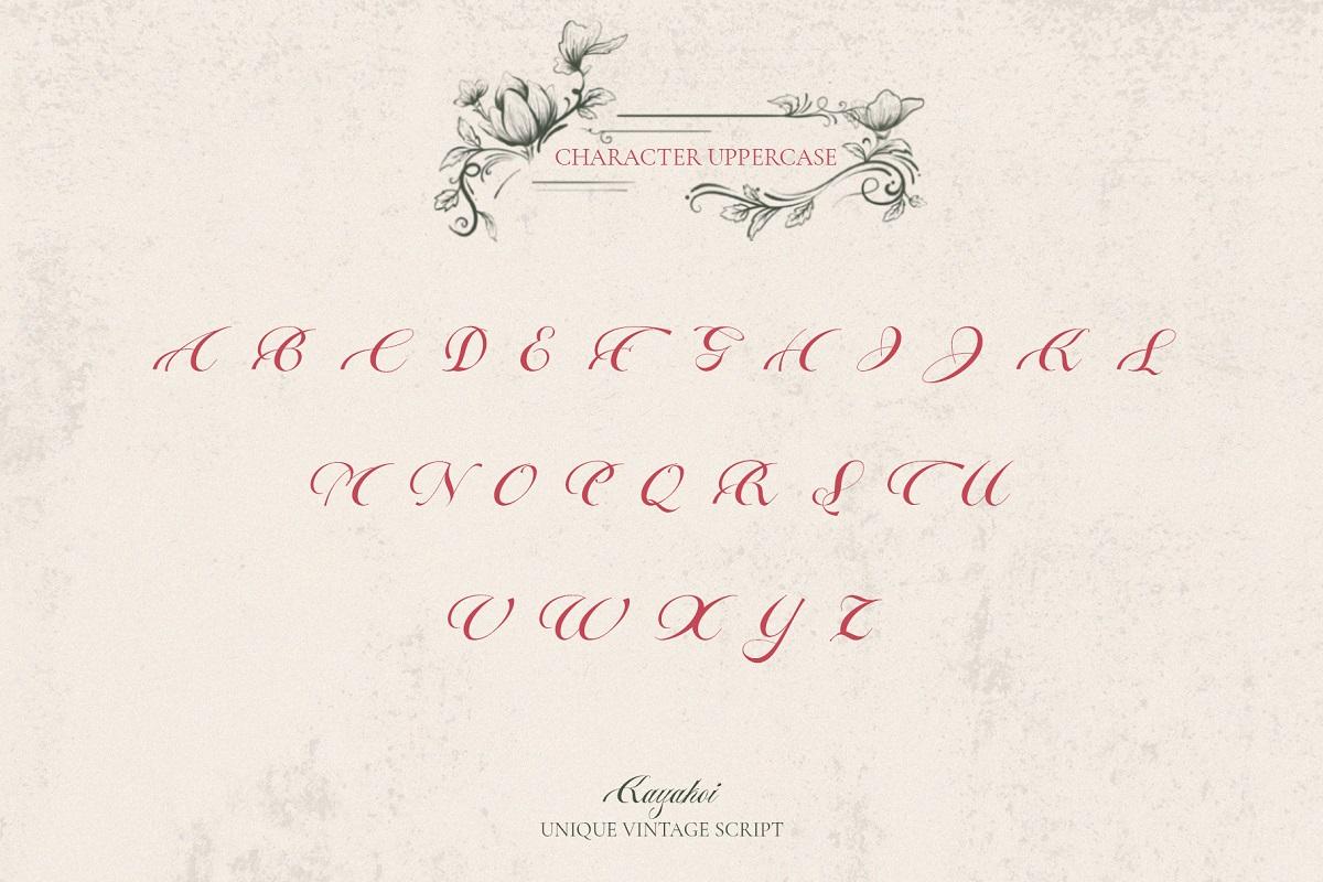 Kayakoi Bautiful Calligraphy Font -3
