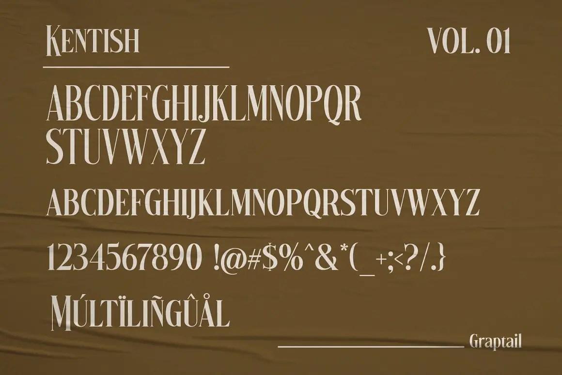 Kentish Serif Display Typeface -2