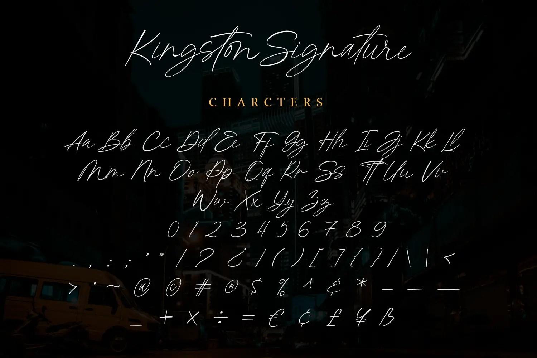 Kingston Signature Handwritten Font -3