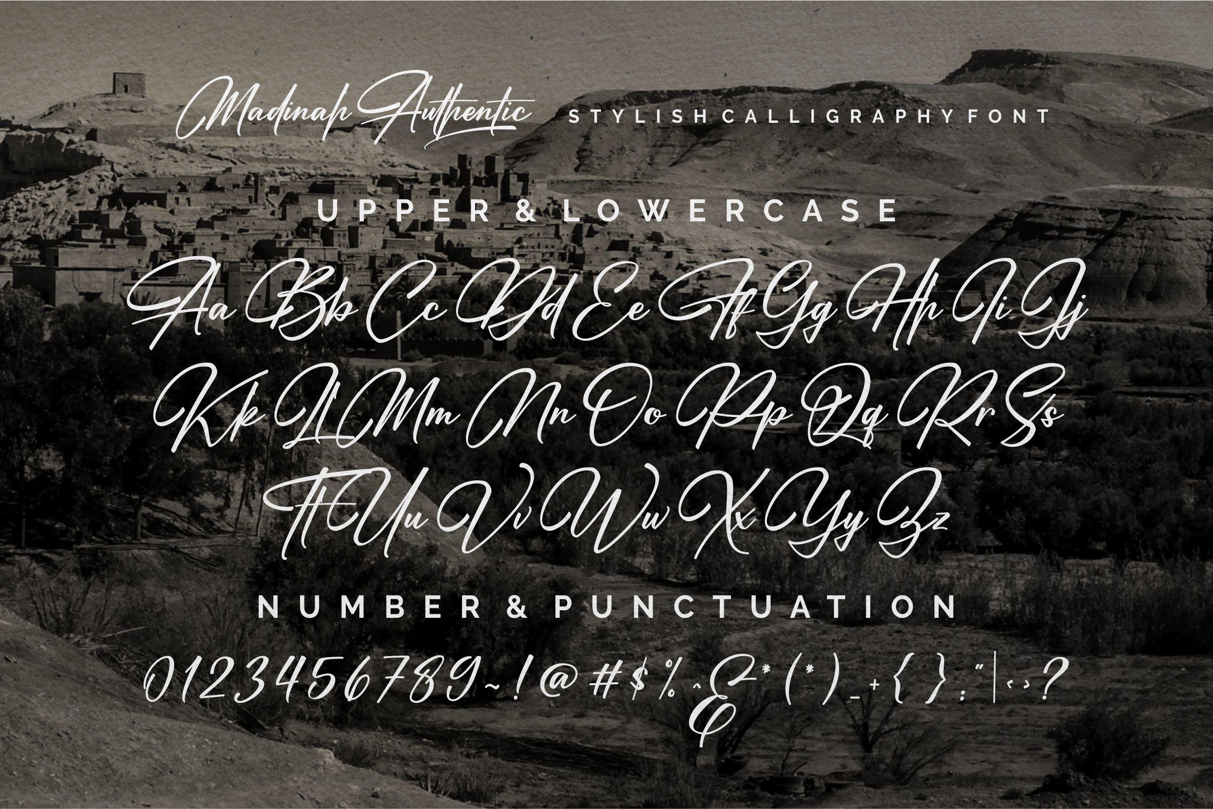 Madinah Authentic Modern Script Font -3